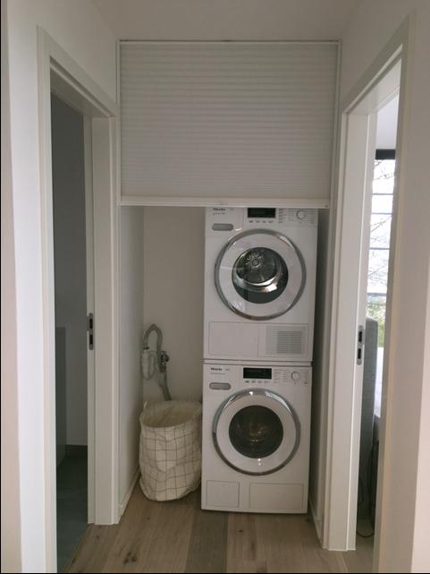 Waschmaschine Verstecken plissee nischenmontage als sichtschutz my design daheim de